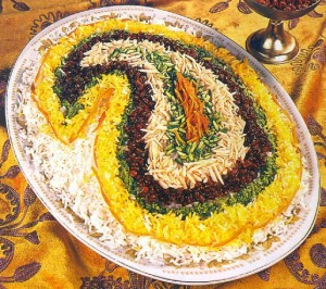 morasah polow 300x266 انواع پلو ایرانی اشپزی